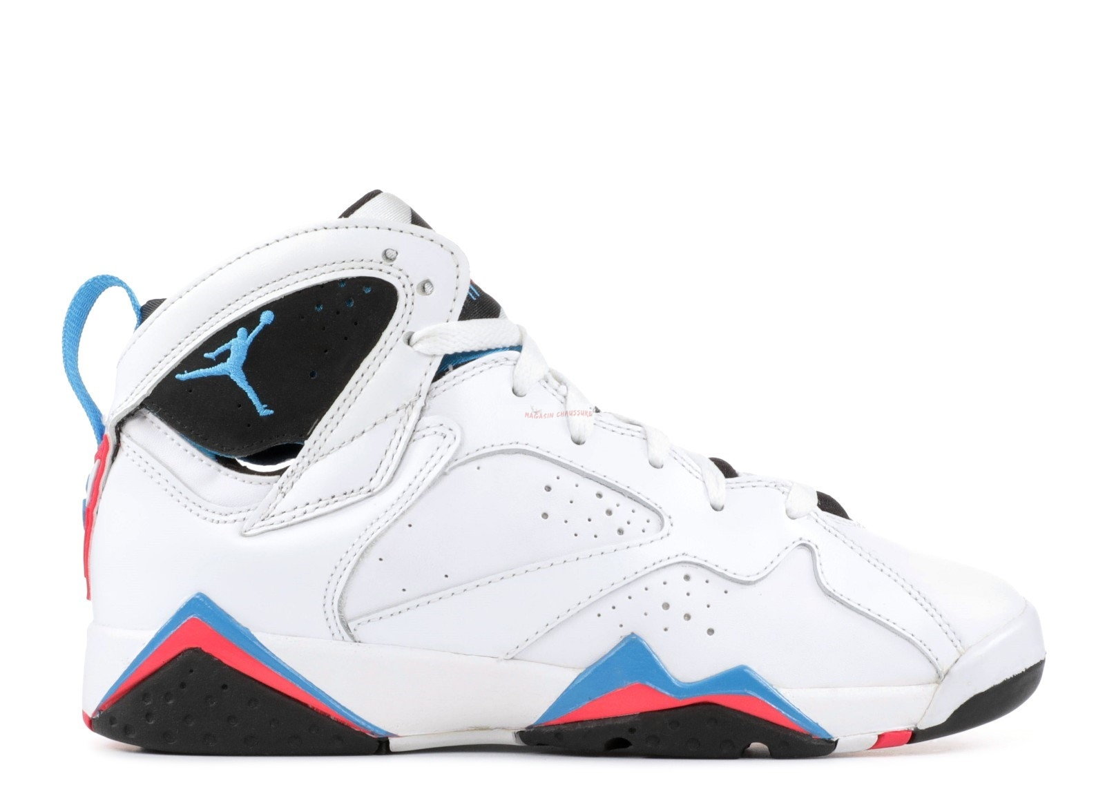 "Air Jordan 7 Retro (Gs) ""Orion"" Blanc Bleu Rose (304774-105) Chaussure de Basket"