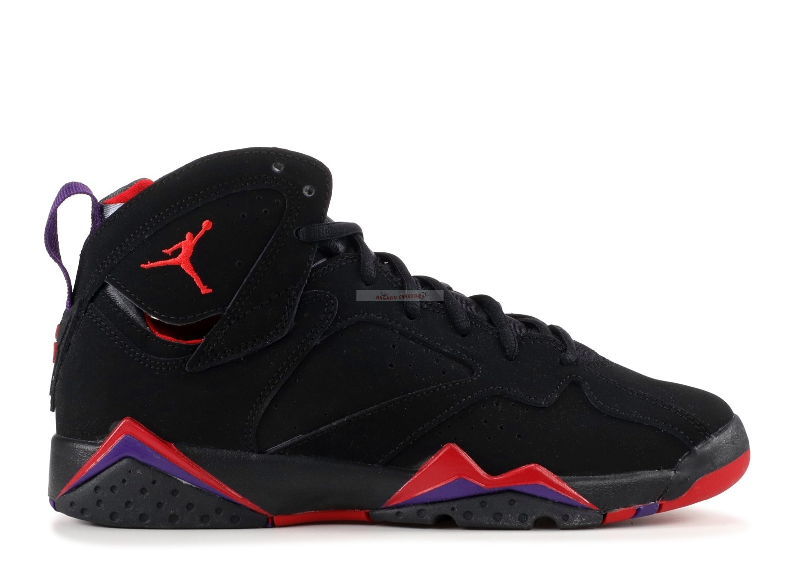 "Air Jordan 7 Retro (Gs) ""Raptor"" Noir Rouge (304774-018) Chaussure de Basket"