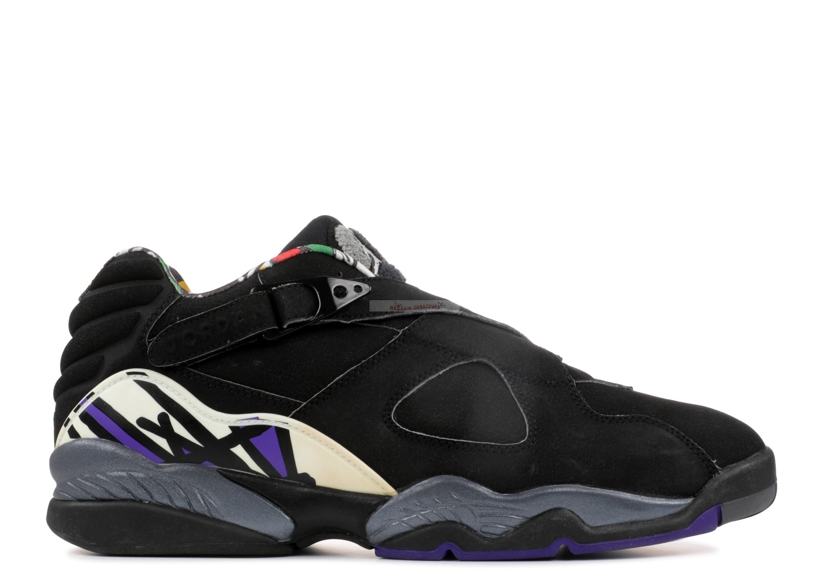 "Air Jordan 8 Low Pe ""Mike Bibby Kings Away"" Noir Pourpre (jbm155-m7) Chaussure de Basket"