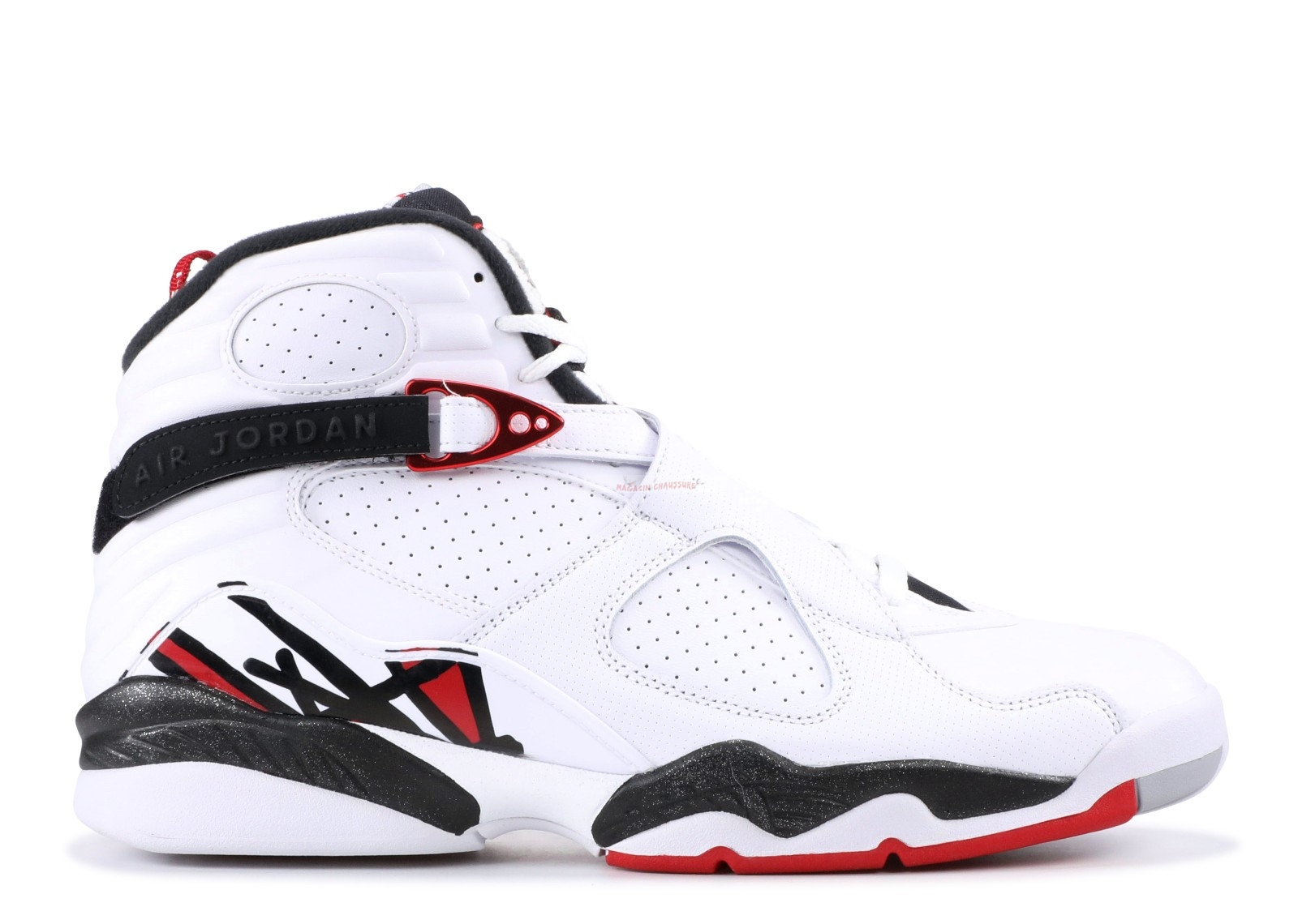 "Air Jordan 8 Retro ""Alternate"" Blanc Noir (305381-104) Chaussure de Basket"