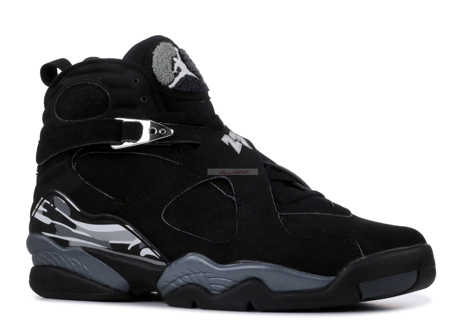 "Air Jordan 8 Retro ""Chrome"" Noir (305381-001) Chaussure de Basket"