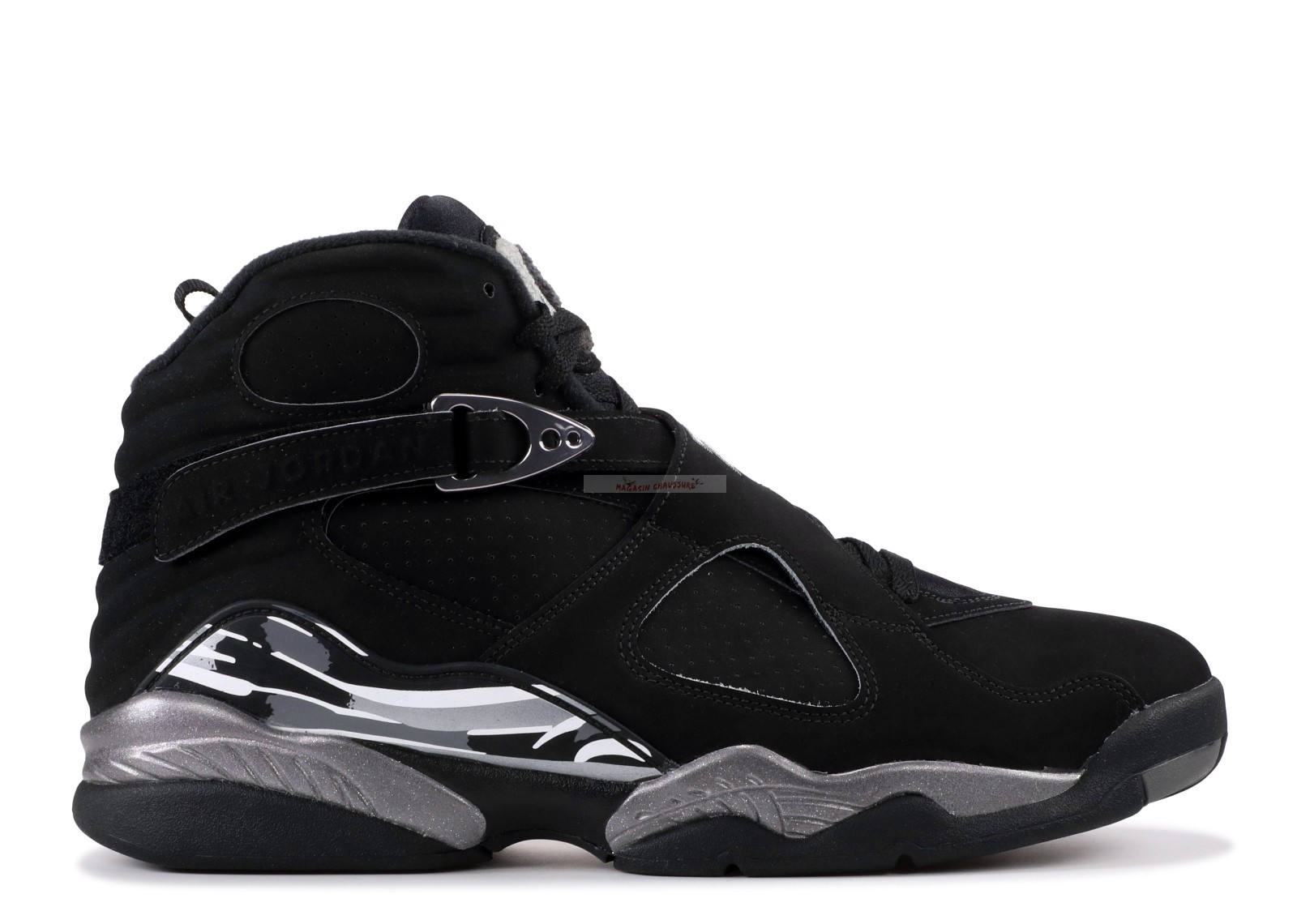 "Air Jordan 8 Retro ""Chrome"" Noir Blanc (305381-003) Chaussure de Basket"