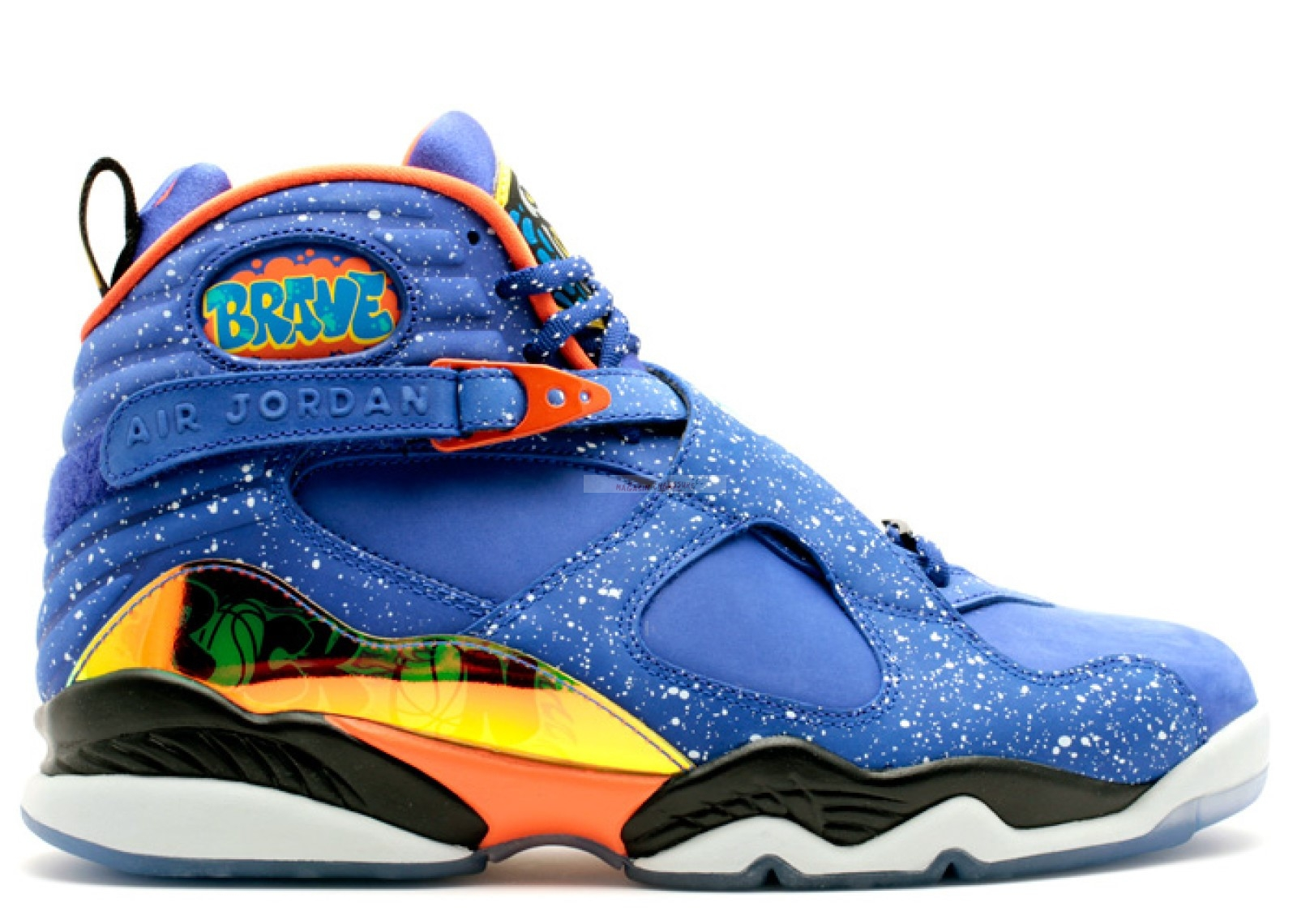 "Air Jordan 8 Retro Db ""Doernbecher"" Bleu Orange (729893-480) Chaussure de Basket"