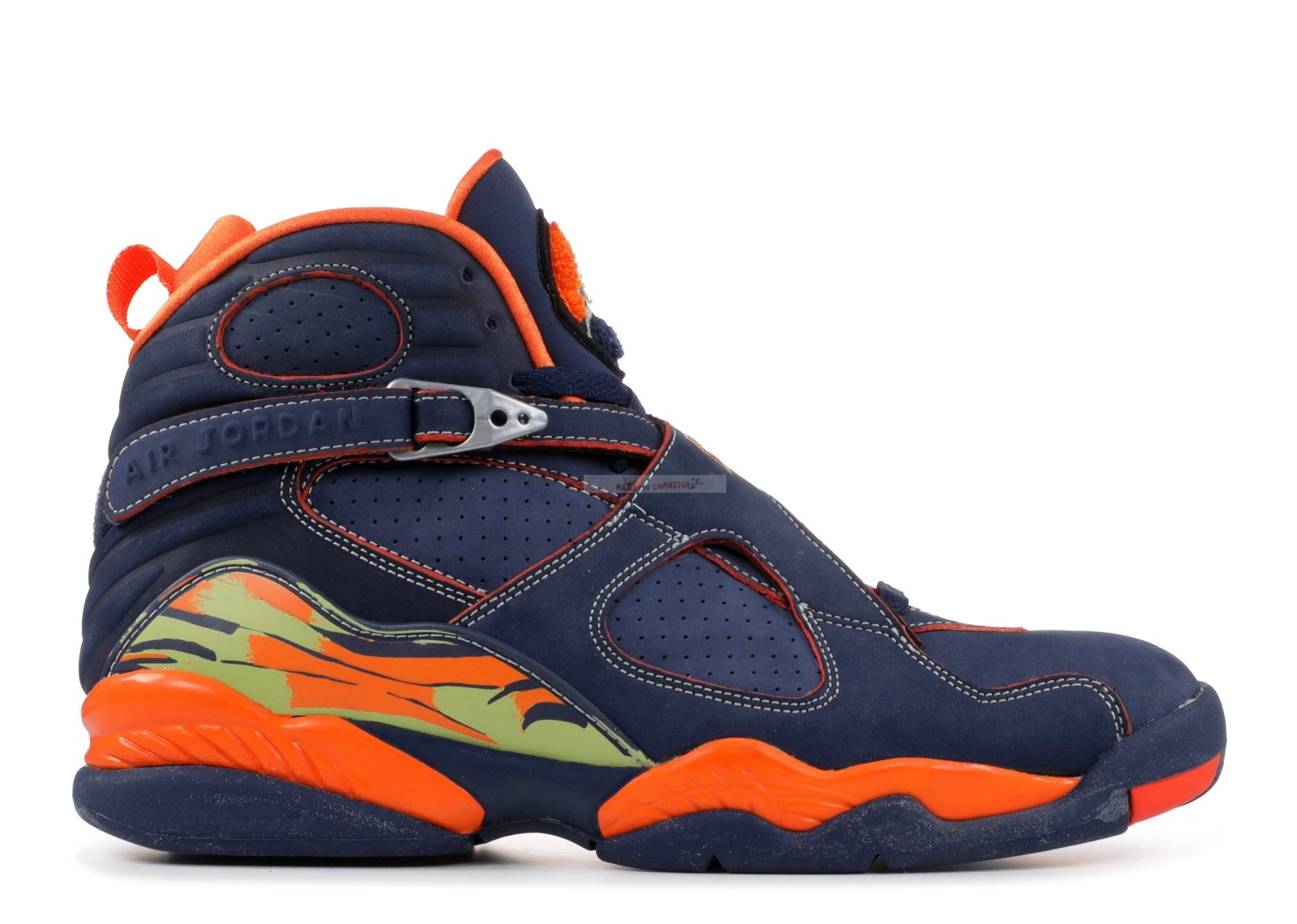 Air Jordan 8 Retro Ls Marine Orange (316324-481) Chaussure de Basket