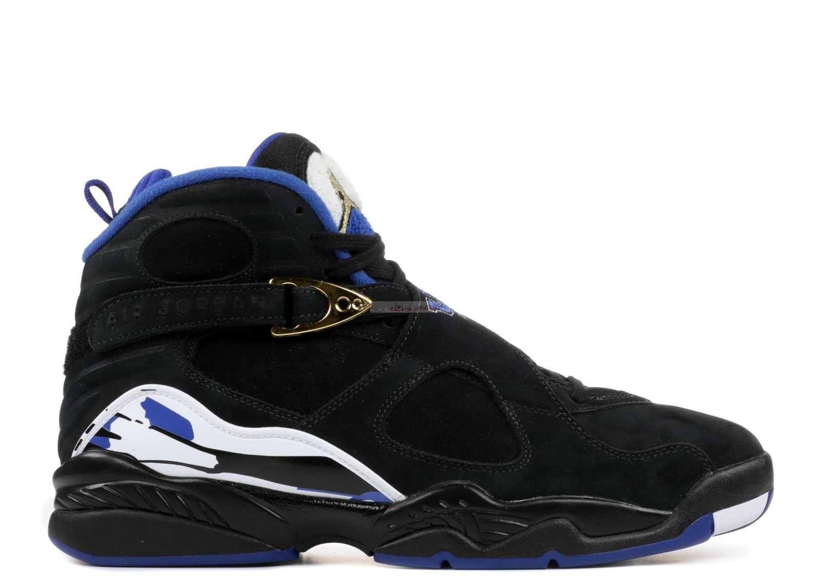 "Air Jordan 8 Retro ""Promo Kentucky Madness"" Noir Blanc Bleu (aj8-784284) Chaussure de Basket"