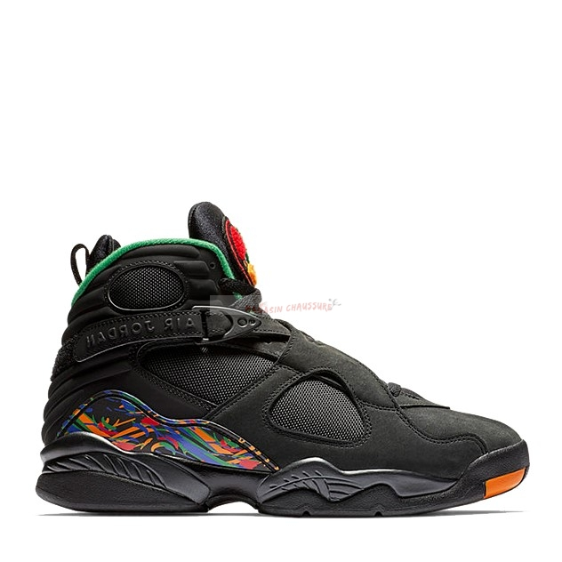 "Air Jordan 8 Retro ""Tinker Air Raid"" Noir (305381-004) Chaussure de Basket"