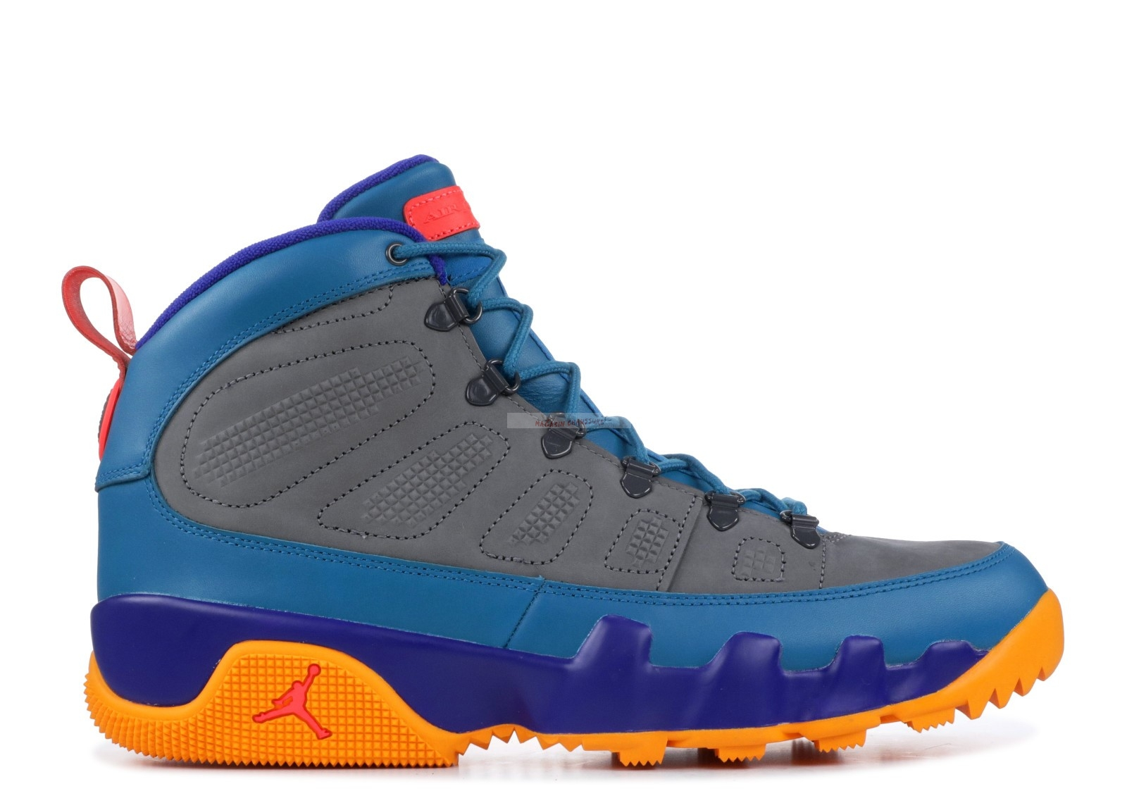 Air Jordan 9 Retro Boot Nrg Bleu Orange (ar4491-300) Chaussure de Basket