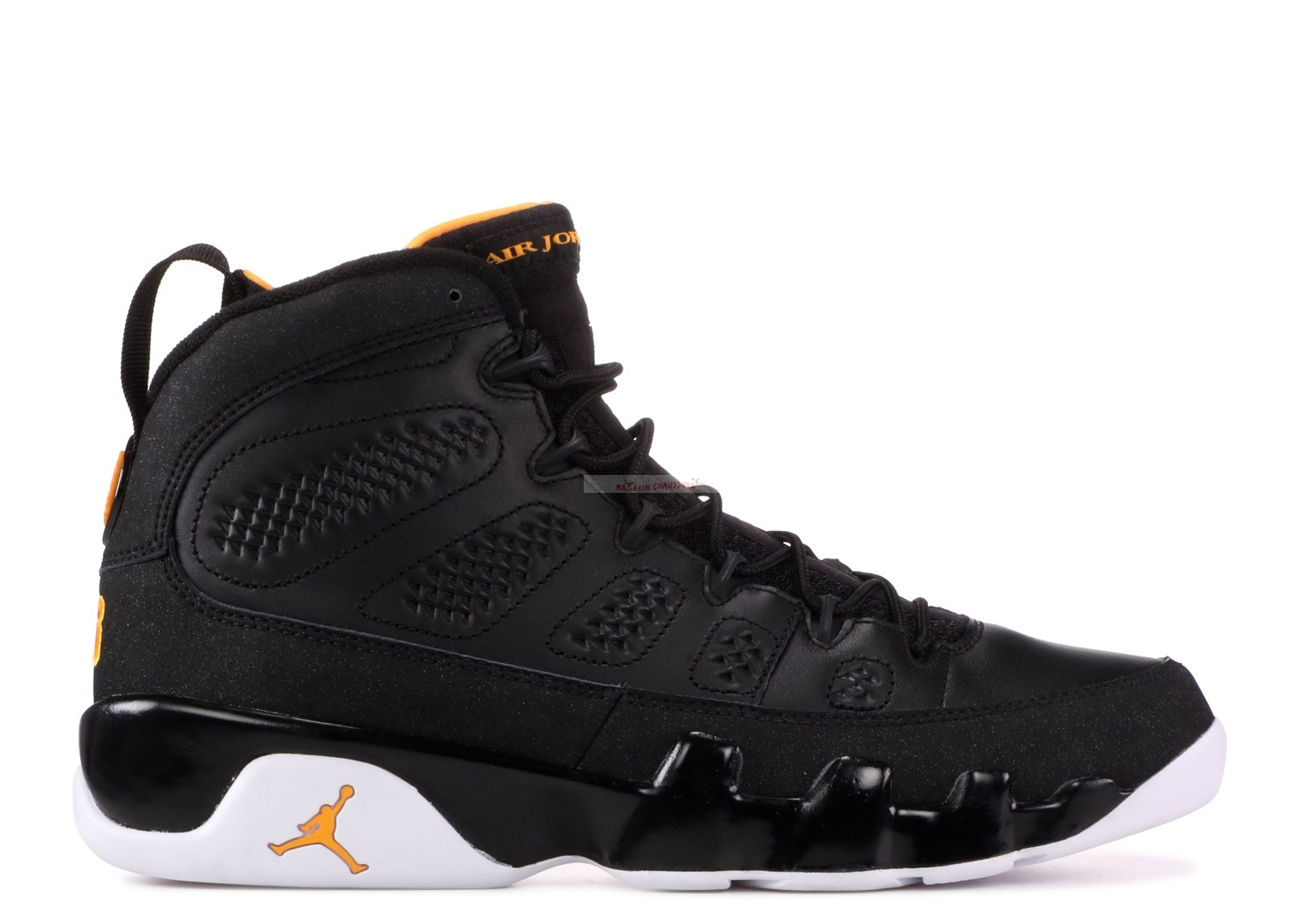 Air Jordan 9 Retro Noir Blanc Orange (302370-004) Chaussure de Basket