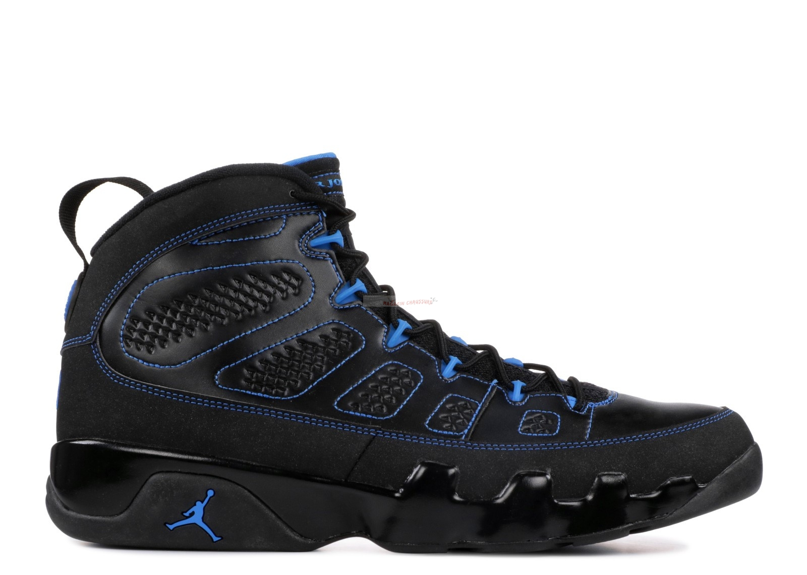 "Air Jordan 9 Retro ""Noir Bottom Photo Blue"" Noir (302370-007) Chaussure de Basket"