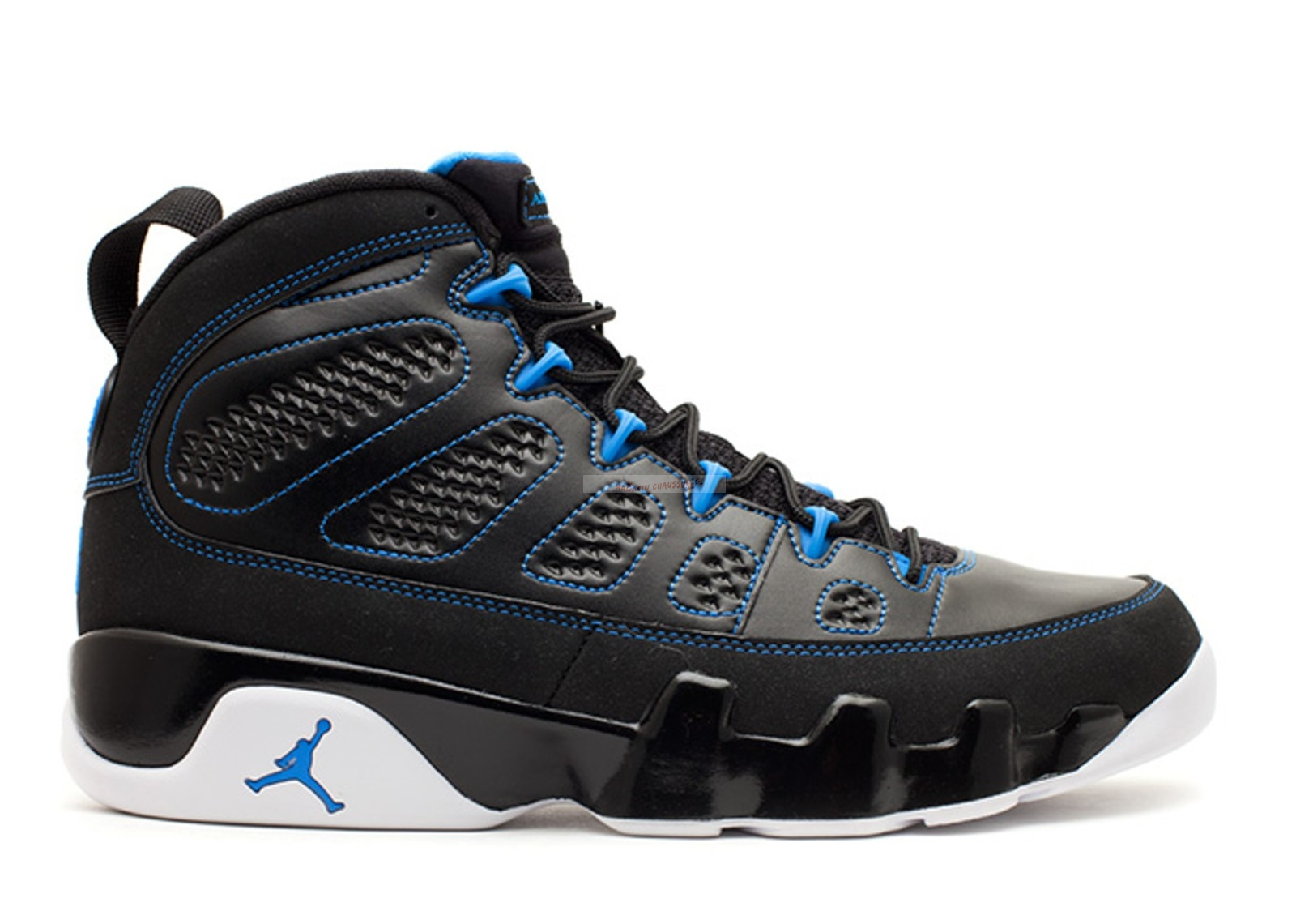 "Air Jordan 9 Retro ""Photo Blue"" Noir Bleu (302370-007) Chaussure de Basket"