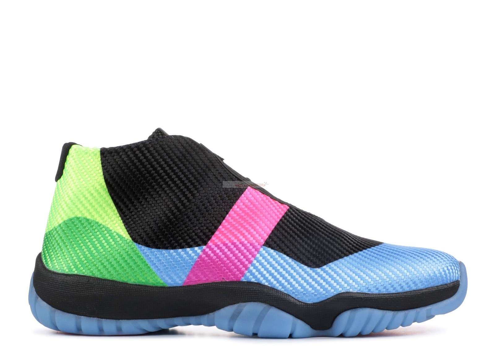 "Air Jordan Future Q54 ""Quai 54"" Noir Bleu (at9191-001) Chaussure de Basket"
