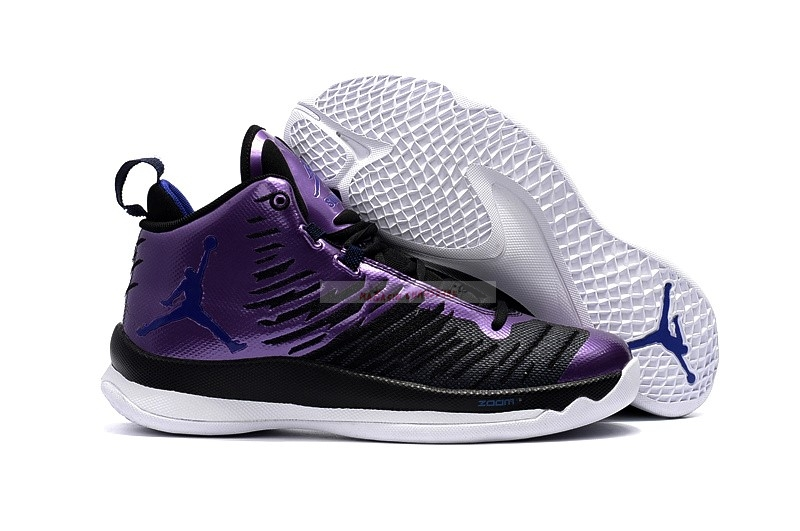 Air Jordan Super.Fly 5 Noir Pourpre Chaussure de Basket