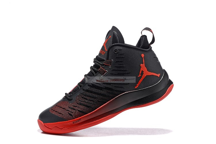 Air Jordan Super.Fly 5 Noir Rouge Chaussure de Basket