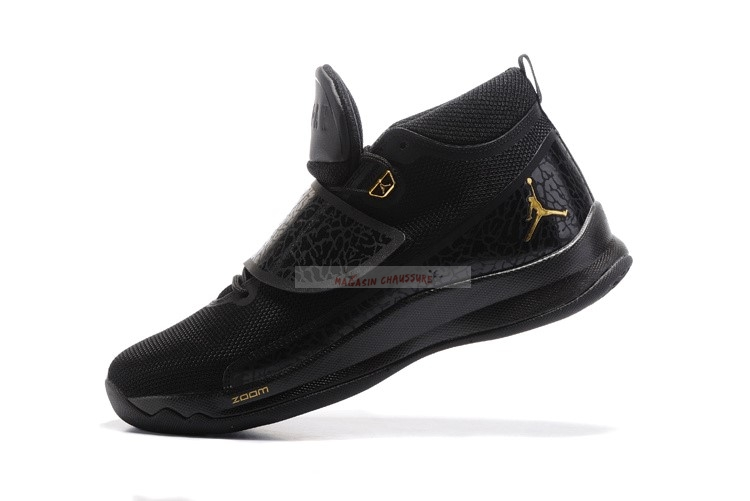 Air Jordan Super.Fly 5 Po Noir Or Chaussure de Basket