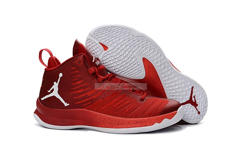 Air Jordan Super.Fly 5 Rouge Blanc Chaussure de Basket