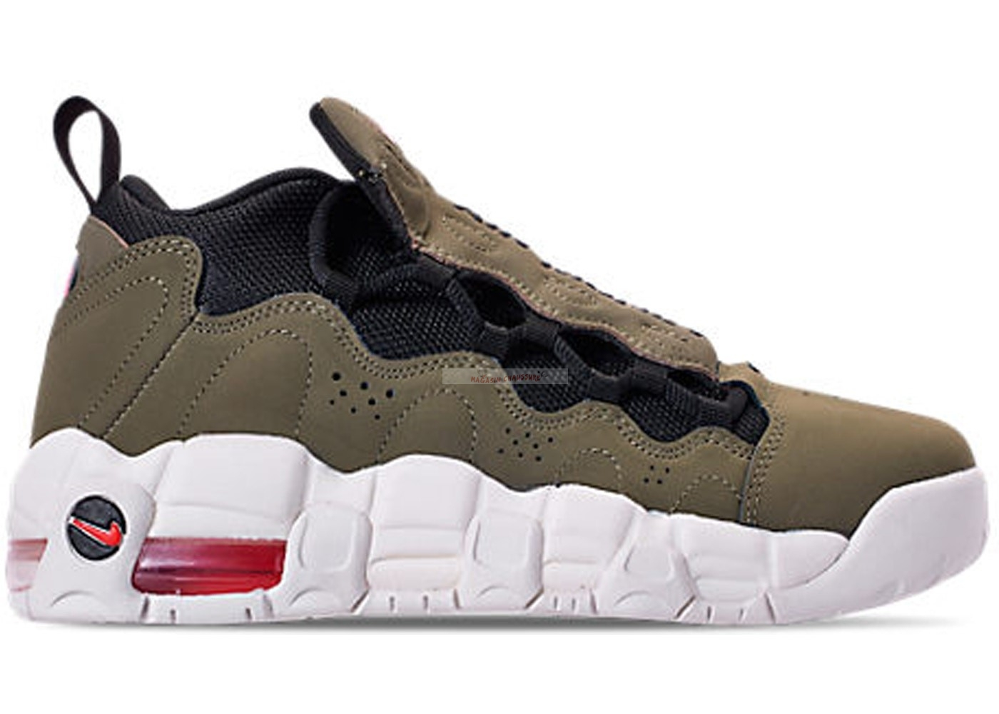 "Air More Money (Gs) ""Medium Olive"" Olive (ah5215-200) Chaussure de Basket"