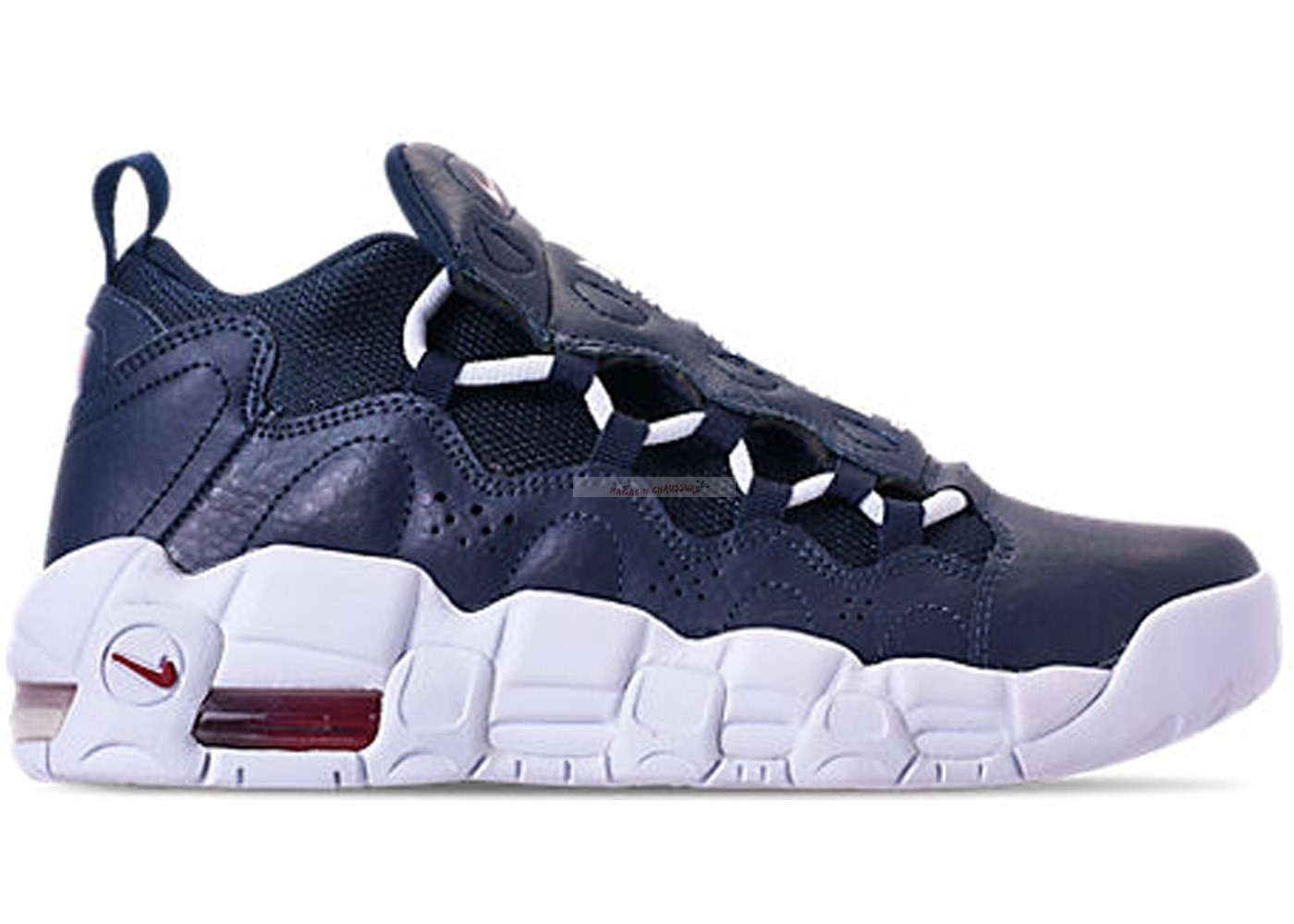 Air More Money (Gs) Obsidian (ah5215-400) Chaussure de Basket
