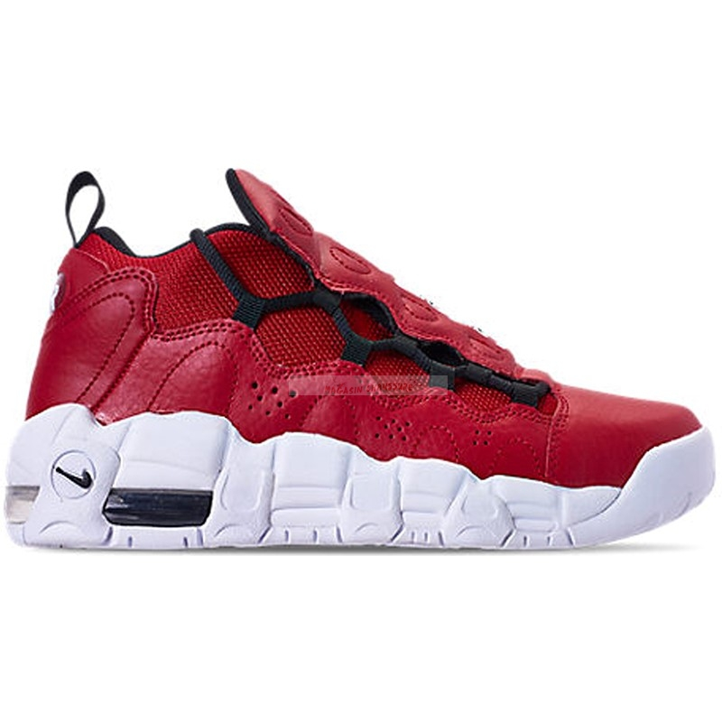 Air More Money (Gs) Rouge (ah5215-601) Chaussure de Basket