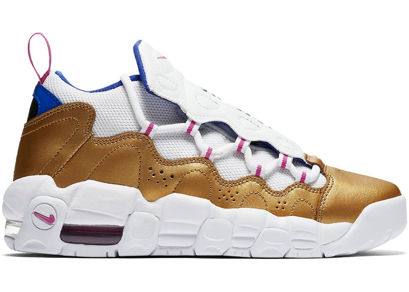 "Air More Money ""Peanut Butter & Jelly"" (Gs) Blanc Or (ah5215-101) Chaussure de Basket"