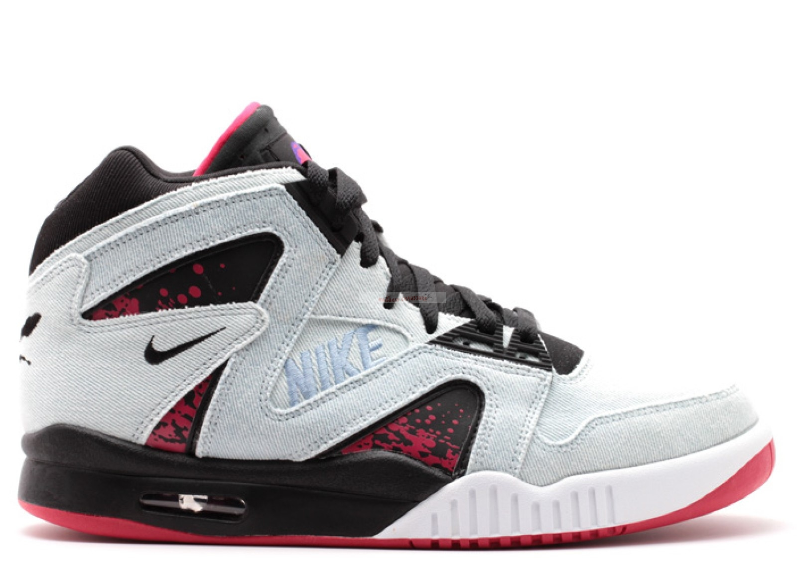 "Air Tech Challenge Hybrid Denm ""Washed Denim"" Gris Noir Rouge Chaussure de Basket"