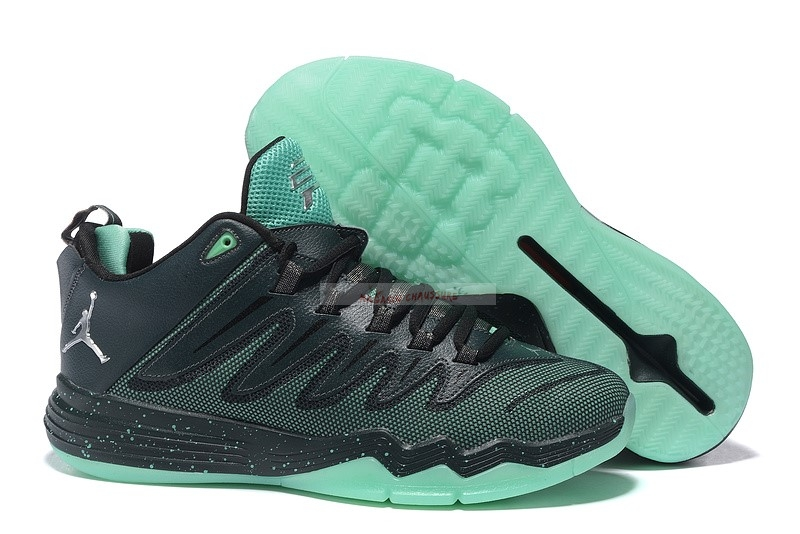"Jordan Cp3 Ix 9 ""Emerald China"" Noir Sarcelle Chaussure de Basket"