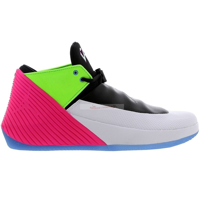 Jordan Why Not Zer0.1 Low Quai54 (2018) Noir Gris Vert Rose (at9190-100) Chaussure de Basket