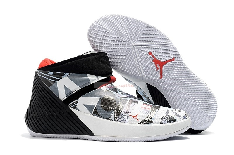 "Jordan Why Not Zer0.1 ""Mirror Image"" Noir Blanc (aa2510-104) Chaussure de Basket"