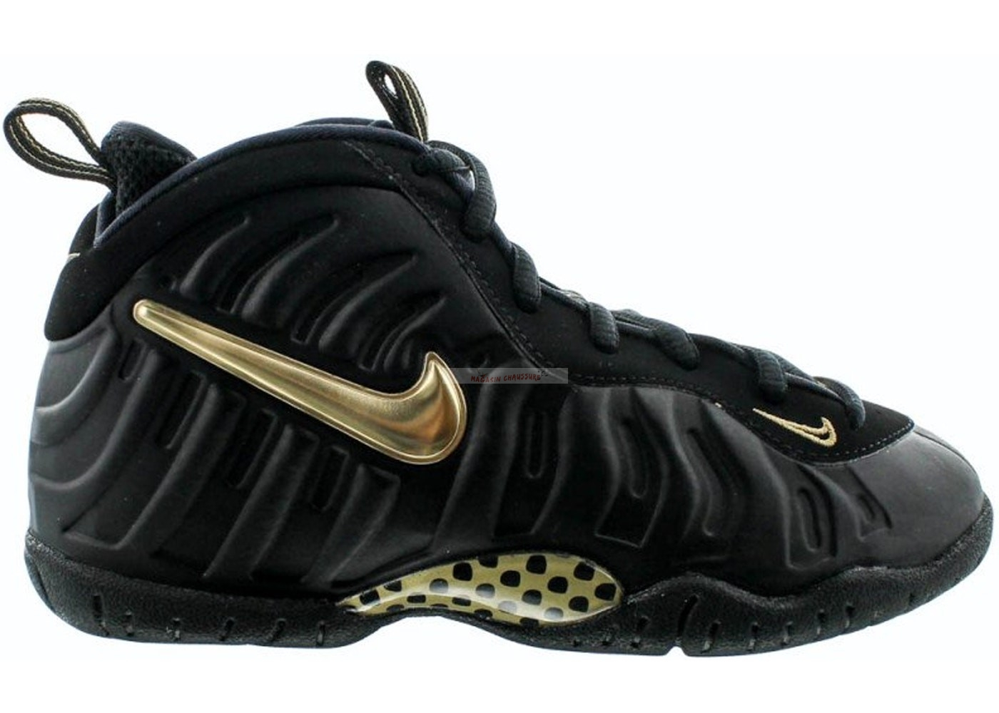 Nike Air Foamposite Pro (Ps) Noir Or (843755-010) Chaussure de Basket