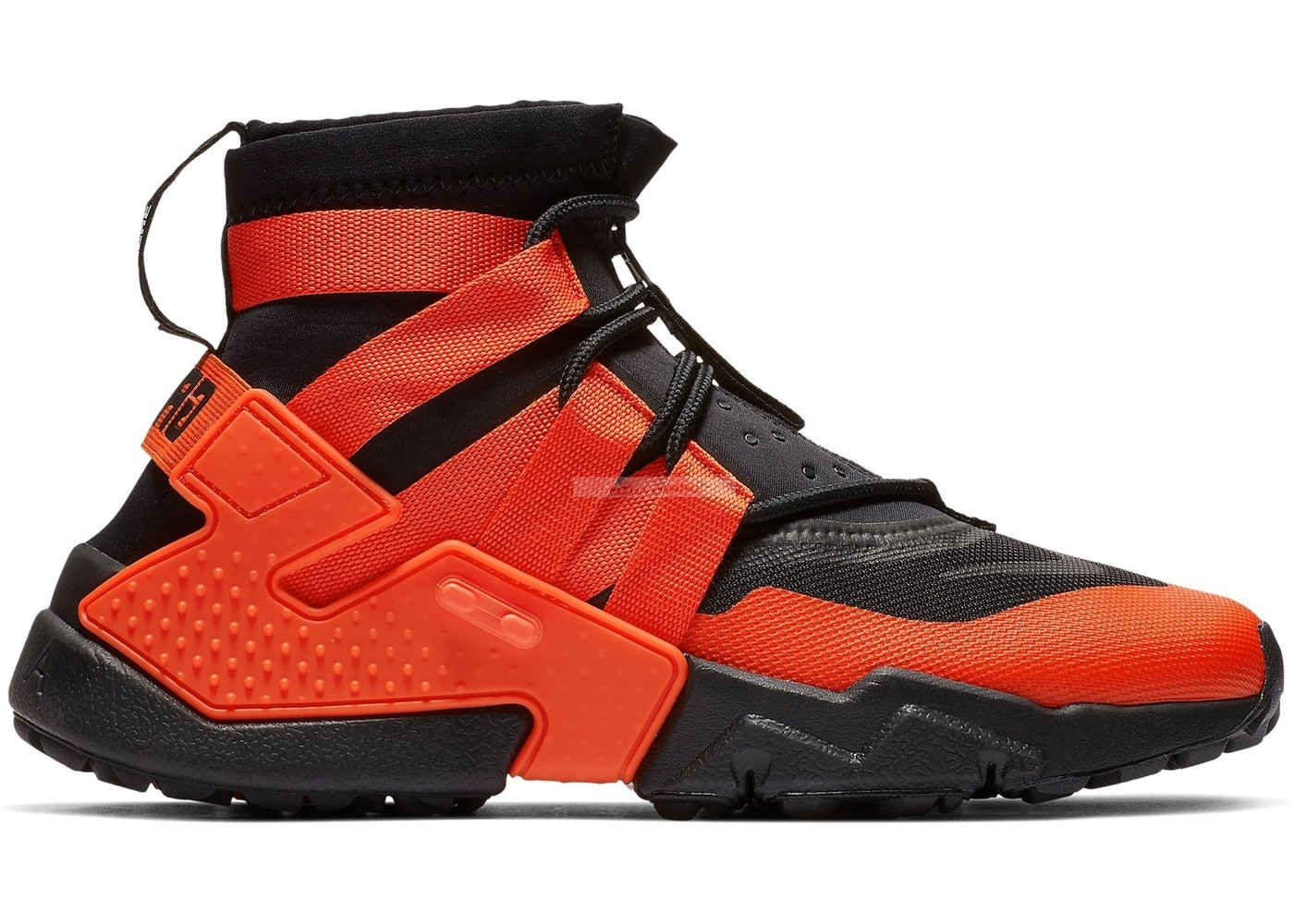 "Nike Air Huarache ""Gripp"" Noir Orange (ao1730-001) Chaussure de Basket"