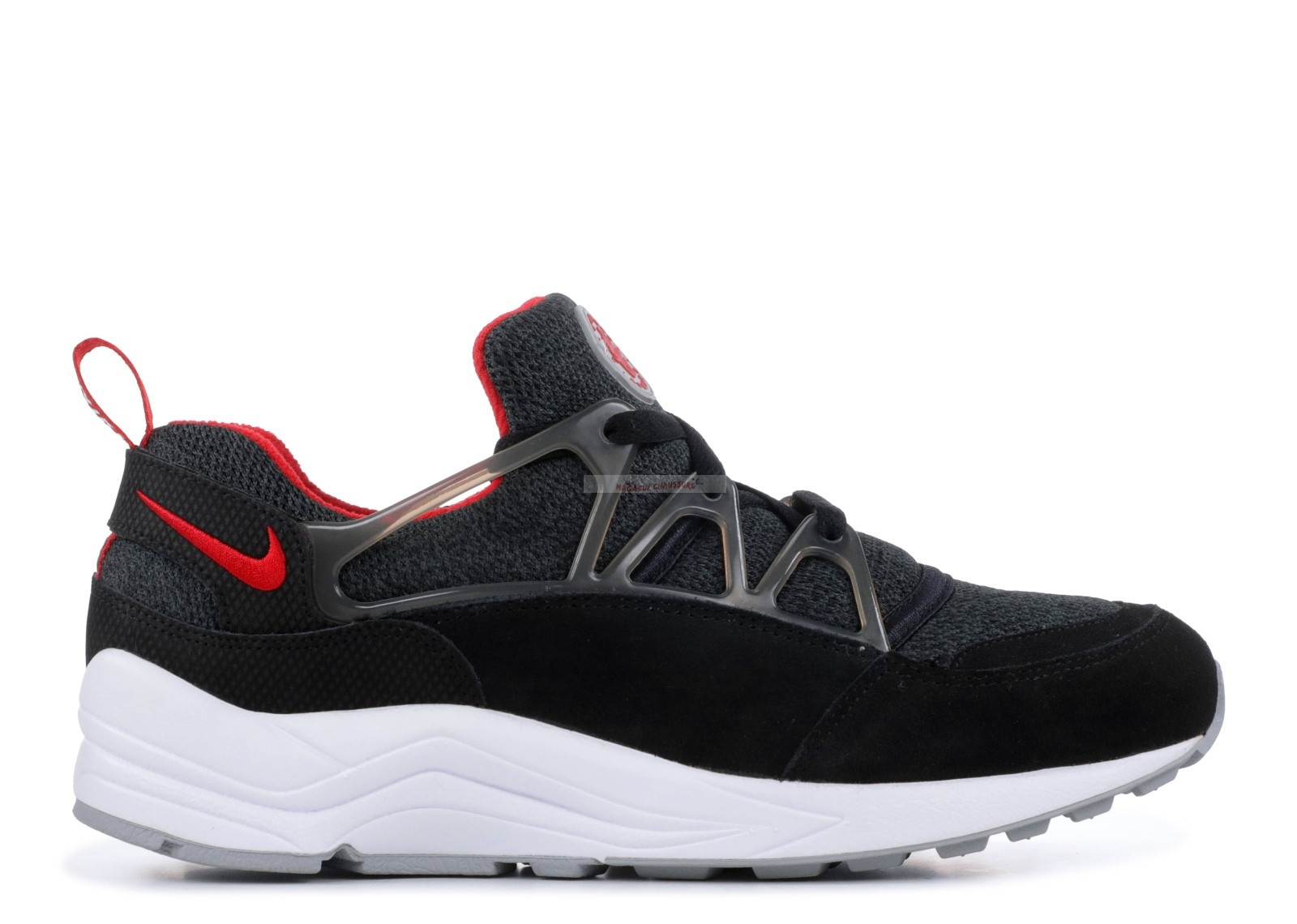 Nike Air Huarache Light Noir Rouge Gris (306127-006) Chaussure de Basket