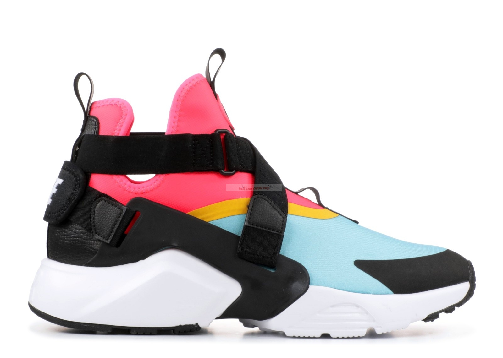 "Nike Air Huarache Run - Femme ""City"" Noir Rose Bleu (ah6787-400) Chaussure de Basket"