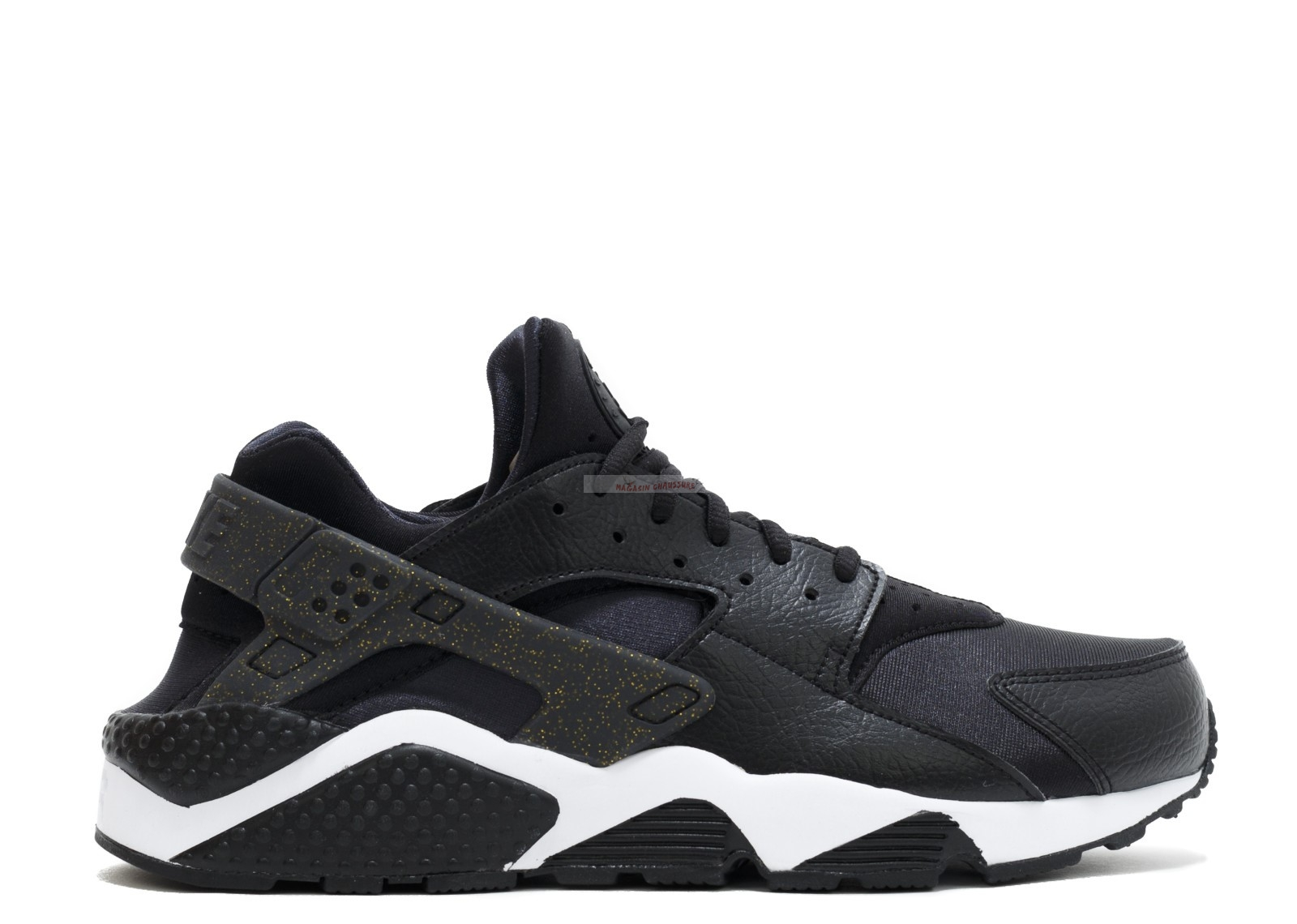 "Nike Air Huarache Run - Femme Prm ""Nfl"" Noir Or Blanc (845317-008) Chaussure de Basket"