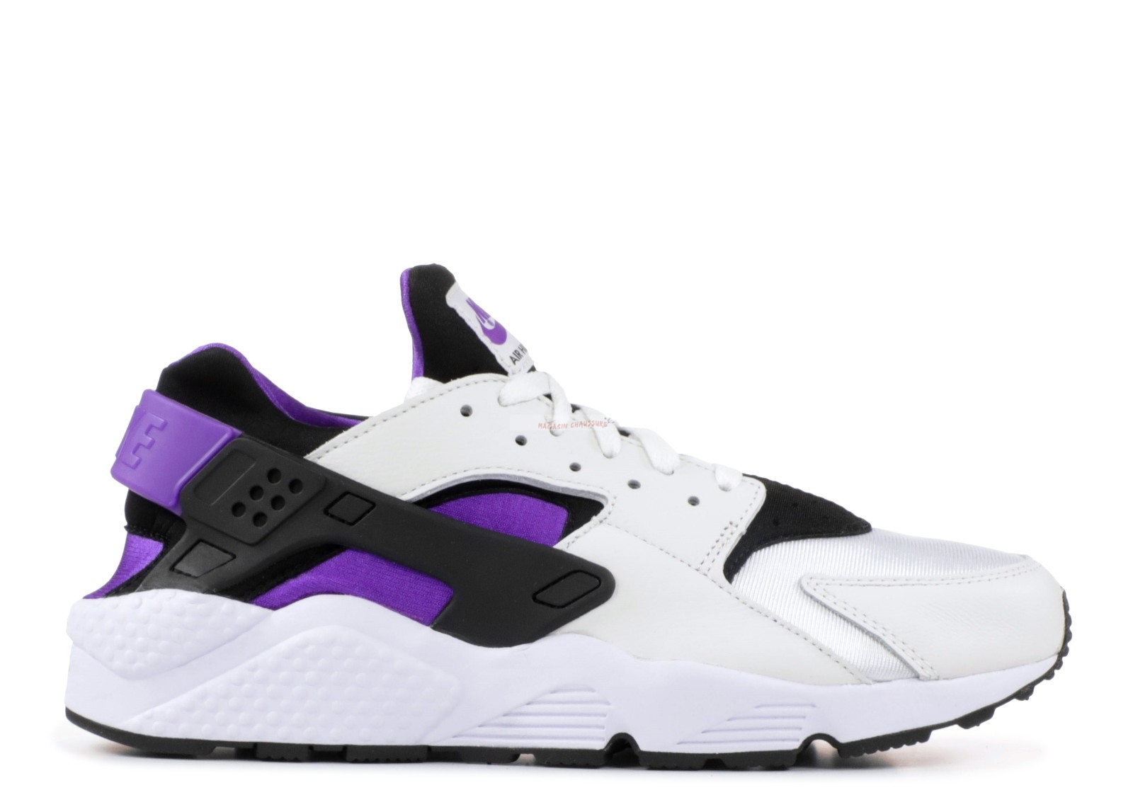 "Nike Air Huarache Run '91 Qs ""Purple Punch"" Noir Pourpre Blanc (ah8049-001) Chaussure de Basket"