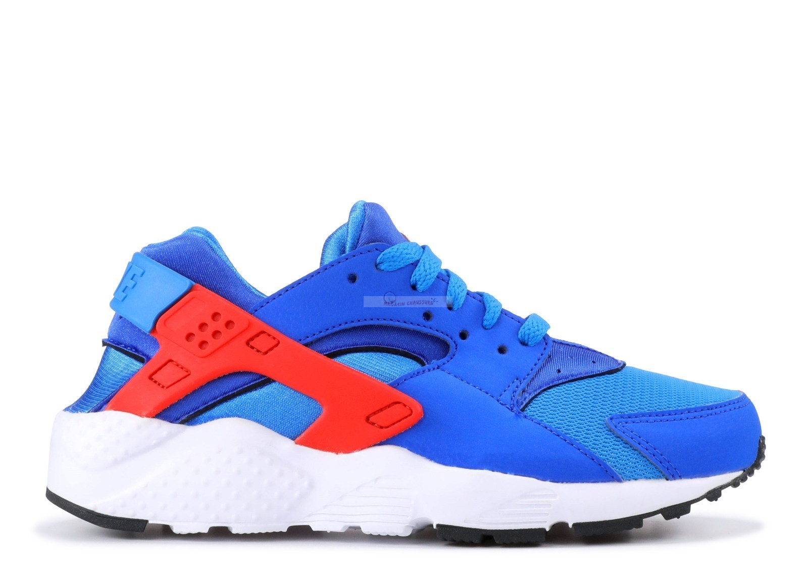 Nike Air Huarache Run (Gs) Bleu Rouge Blanc (654275-400) Chaussure de Basket