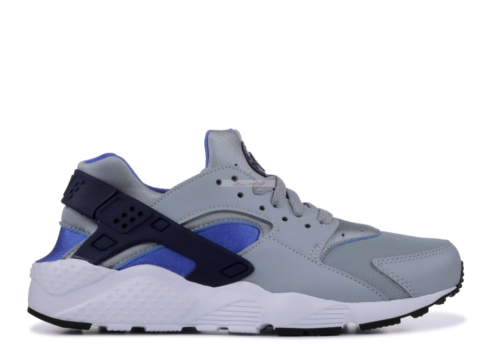 Nike Air Huarache Run (Gs) Gris Bleu (654275-022) Chaussure de Basket