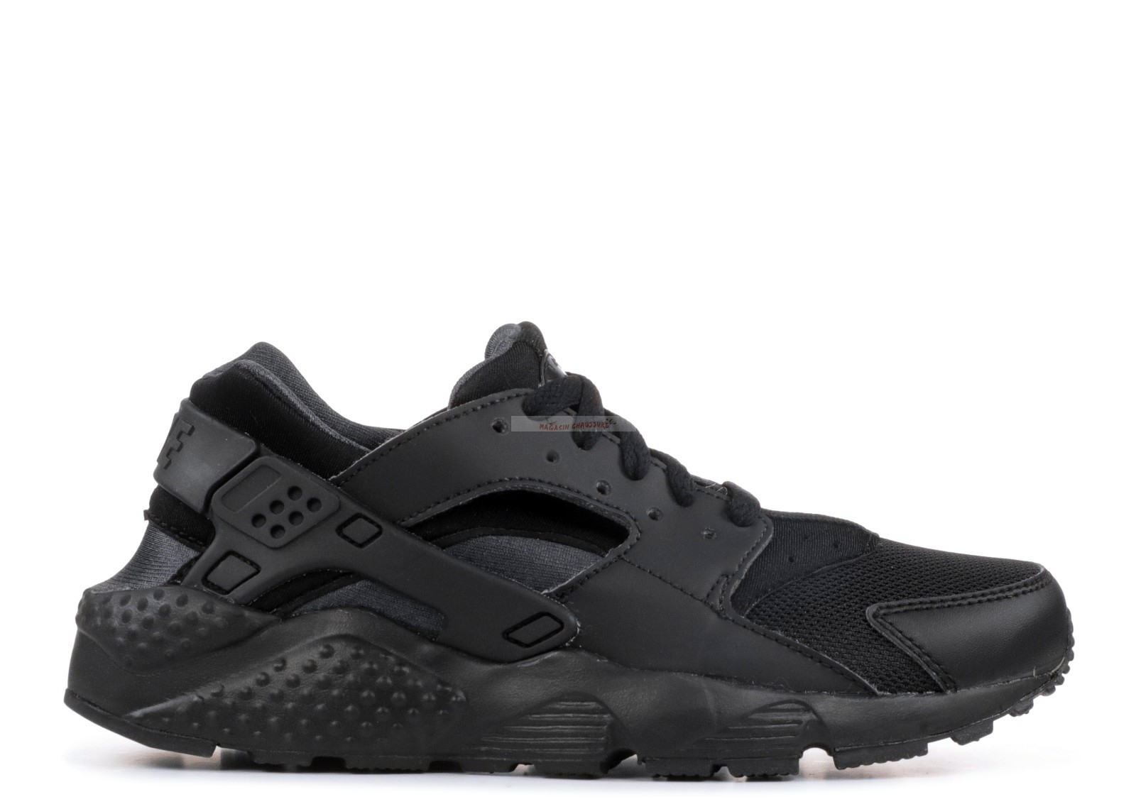 Nike Air Huarache Run (Gs) Noir (654275-020) Chaussure de Basket
