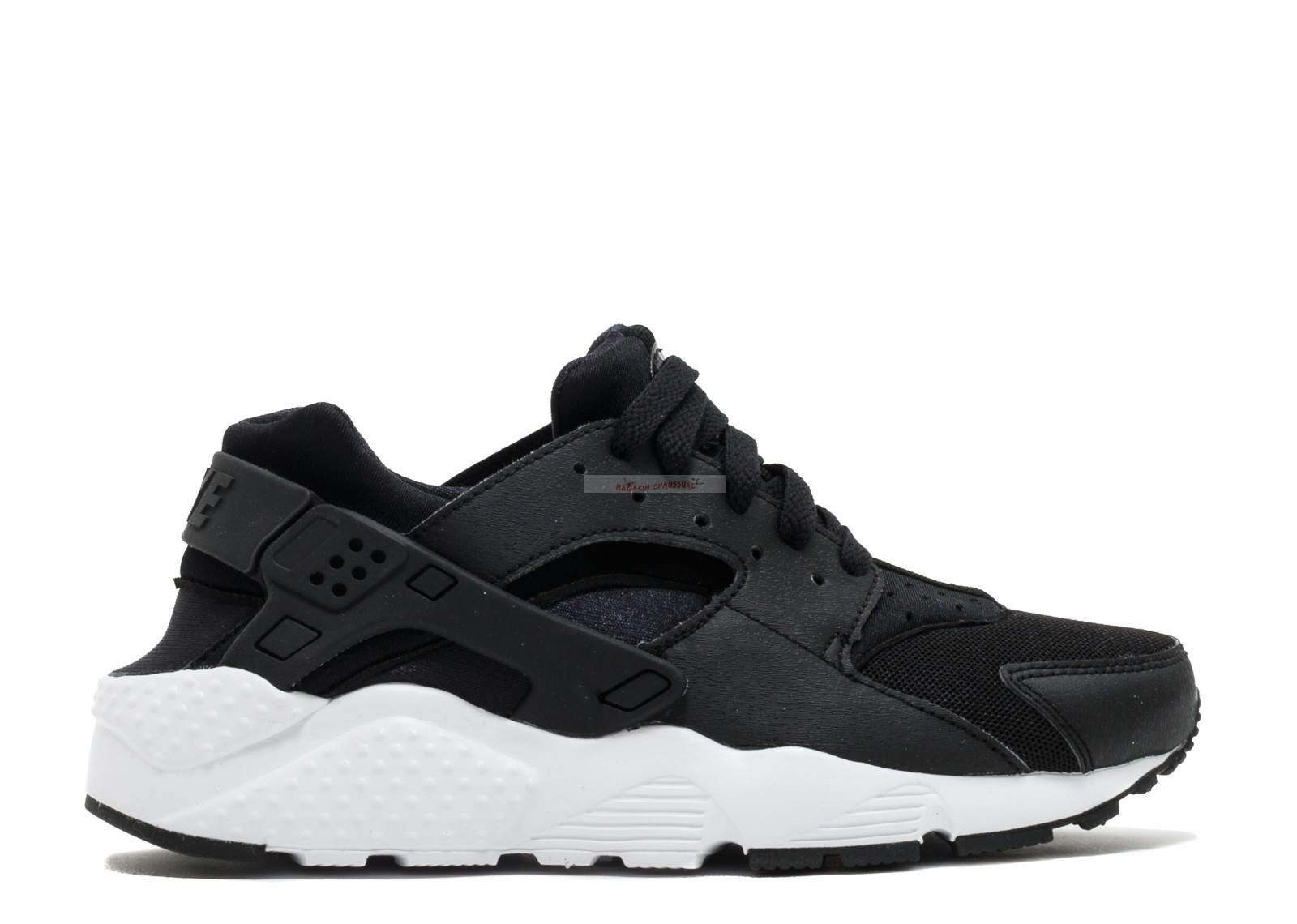 Nike Air Huarache Run Gs Noir Blanc (654275-011) Chaussure de Basket