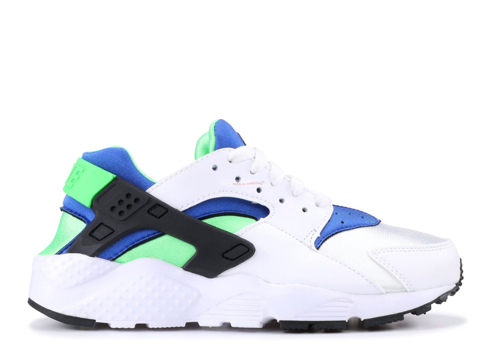 "Nike Air Huarache Run (Gs) ""Scream Green"" Blanc Bleu Vert (654275-300) Chaussure de Basket"