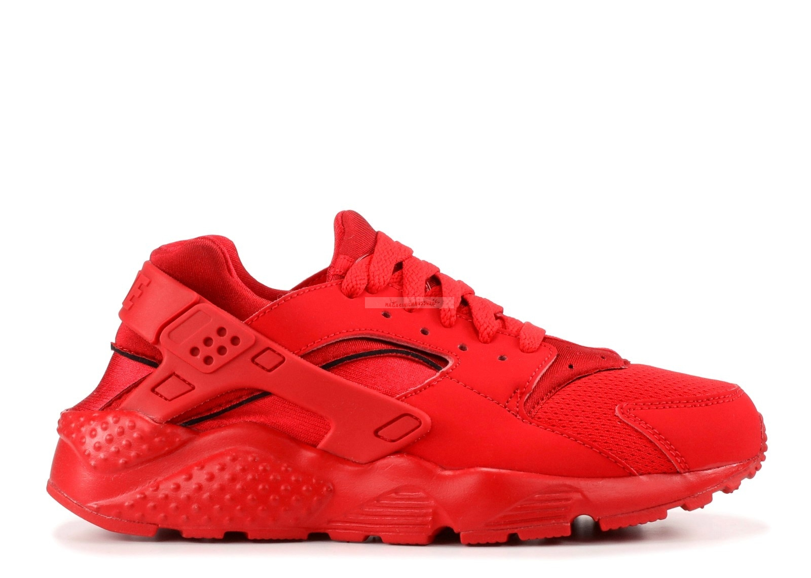 "Nike Air Huarache Run (Gs) ""Triple Rouge"" Rouge (654275-600) Chaussure de Basket"