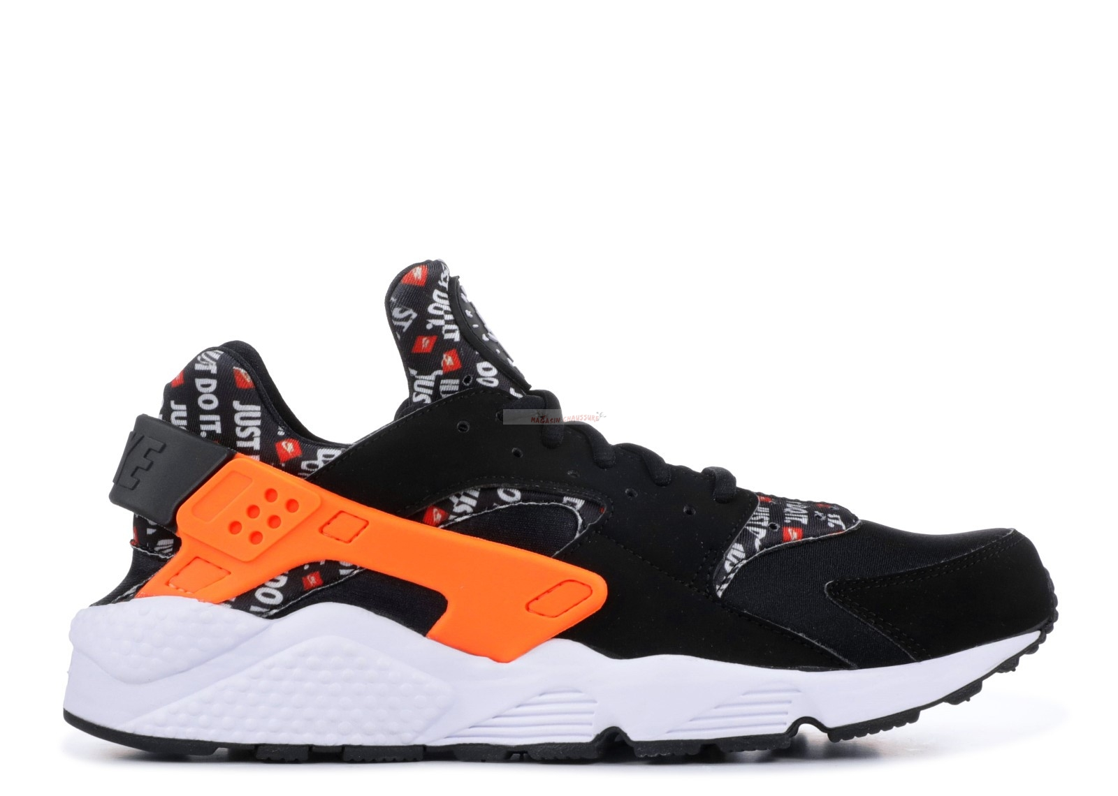 "Nike Air Huarache Run ""Just Do It"" Noir Orange (at5017-001) Chaussure de Basket"