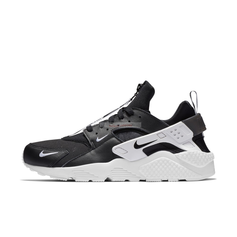 Nike Air Huarache Run Prm Zip Noir Blanc (bq6164-001) Chaussure de Basket