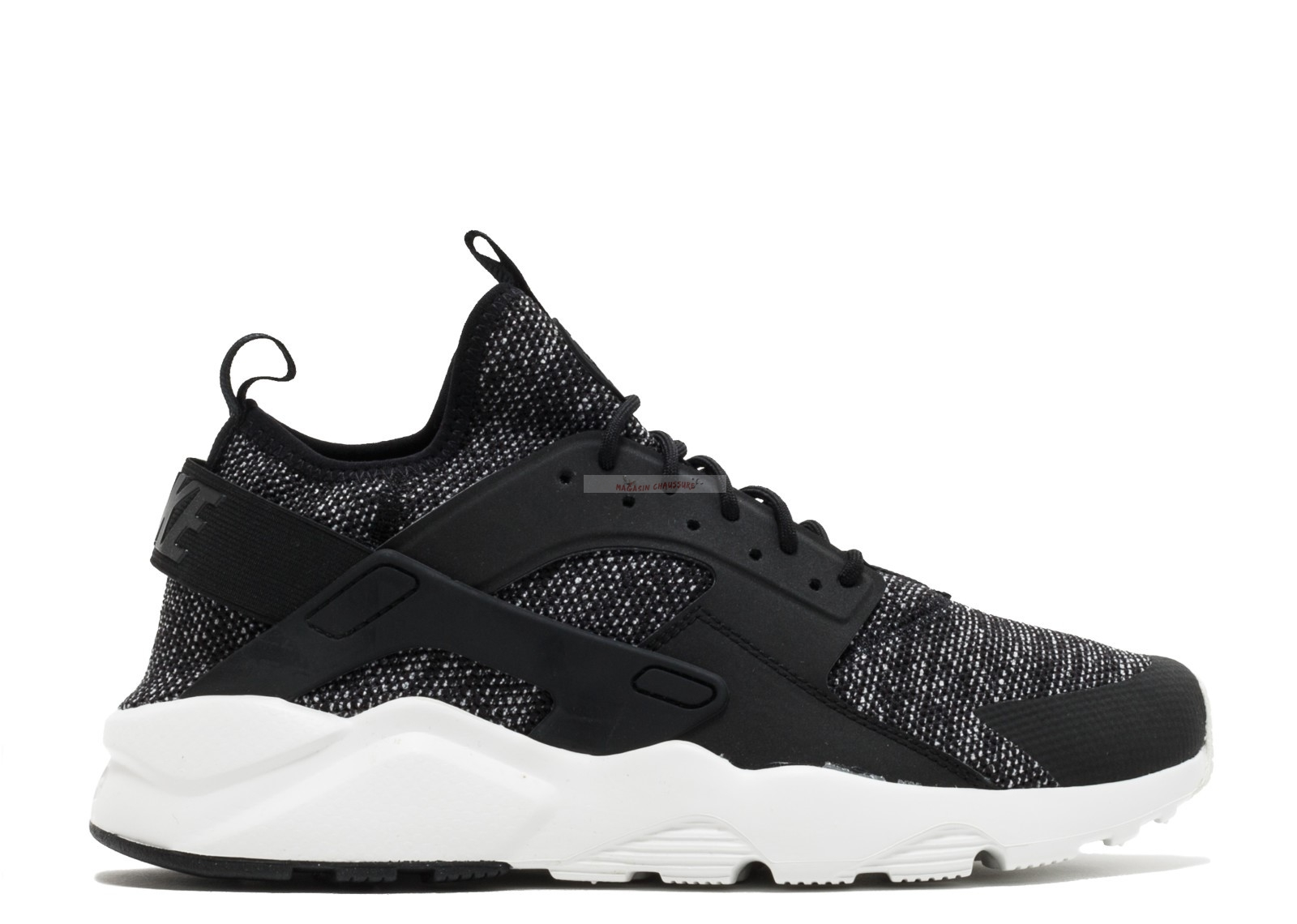 Nike Air Huarache Run Ultra Br Noir Blanc (833147-003) Chaussure de Basket