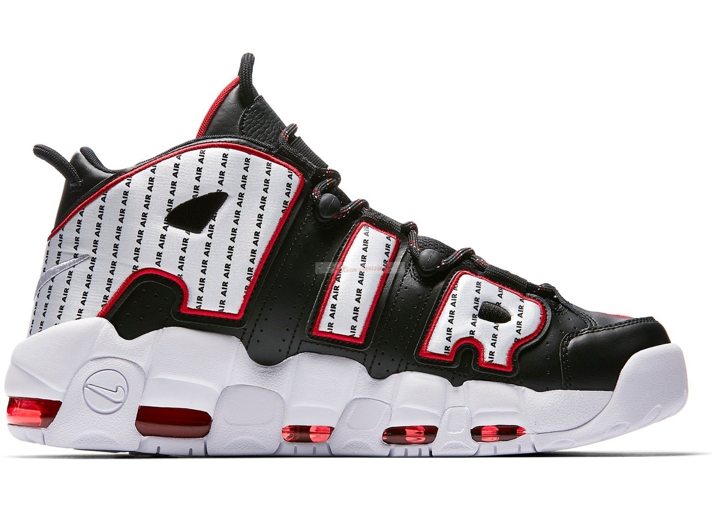 "Nike Air More Uptempo 96 ""Pinstripe"" Black White Red (av7947-001) Chaussure de Basket"