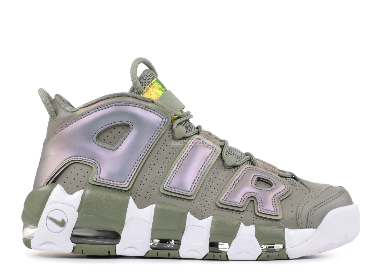 "Nike Air More Uptempo ""Dark Stucco"" Vert Blanc Chaussure de Basket"