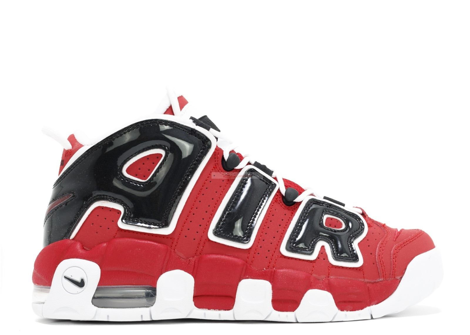 Nike Air More Uptempo (Gs) Rouge Blanc Noir (415082-600) Chaussure de Basket