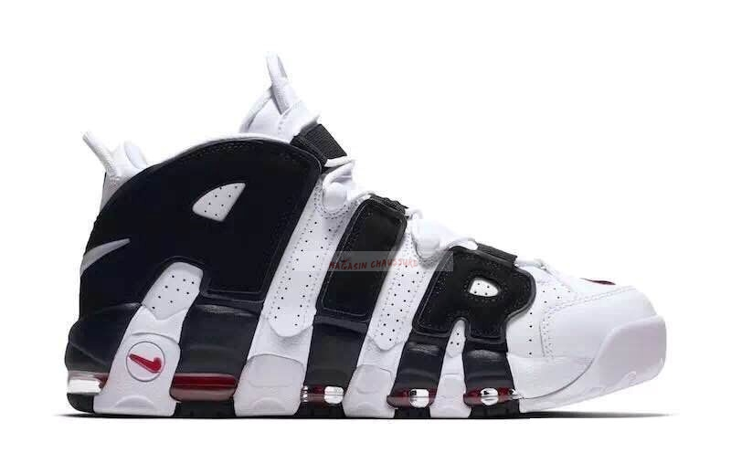 Nike Air More Uptempo Noir Blanc (414962-105) Chaussure de Basket