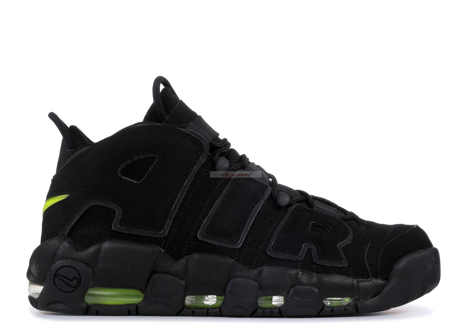 Nike Air More Uptempo Noir Volt (414962-013) Chaussure de Basket