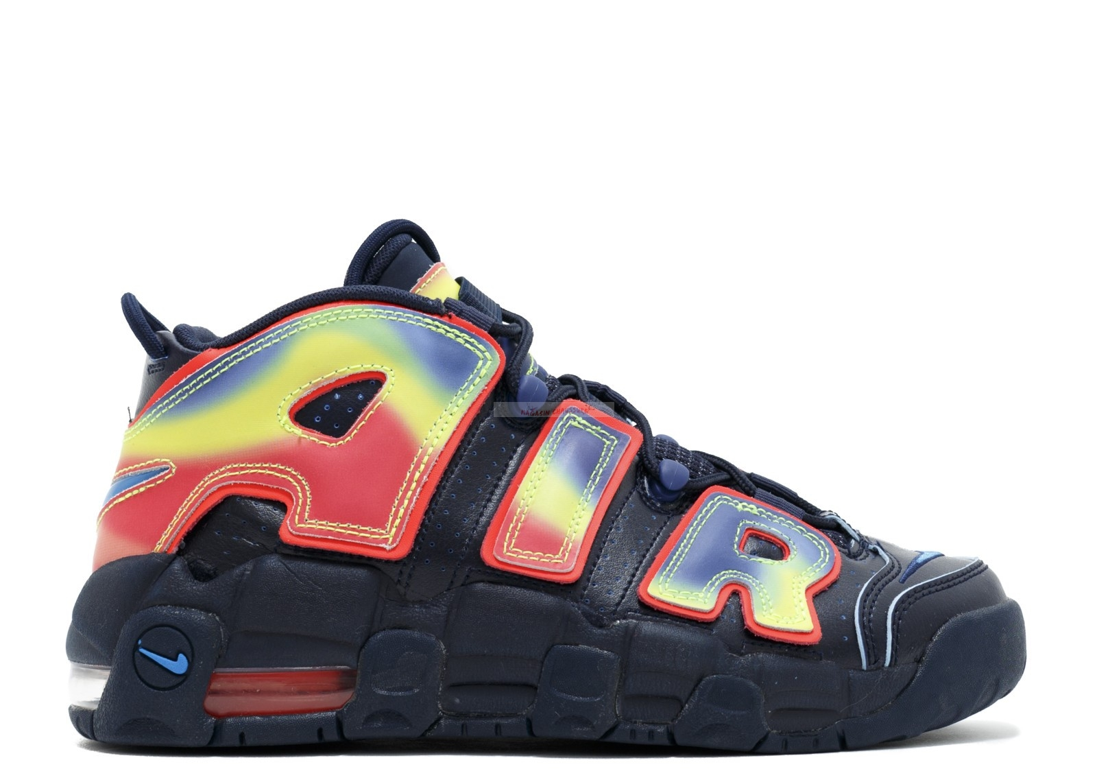 "Nike Air More Uptempo Qs ""Heat Map"" Noir Multicolore Chaussure de Basket"