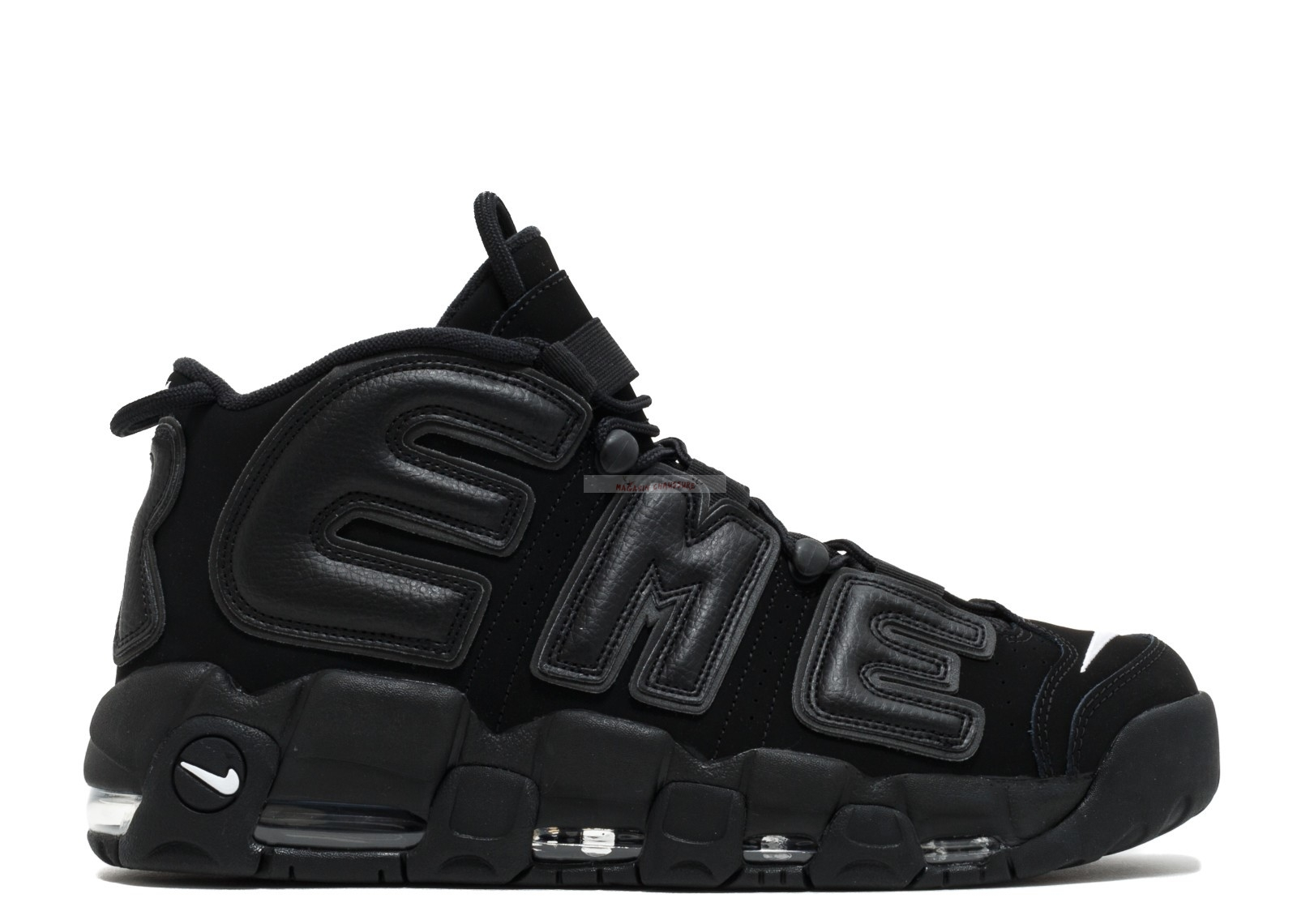 "Nike Air More Uptempo ""Supreme"" Noir Rouge (902290-001) Chaussure de Basket"