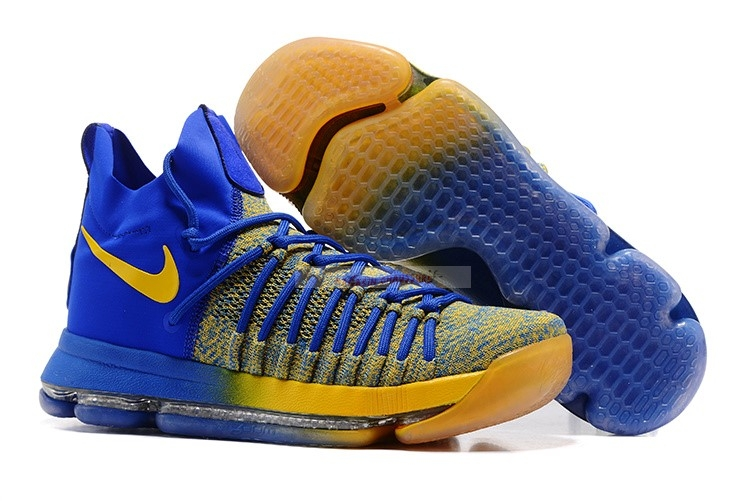 Nike Kd Ix 9 Elite Royal Jaune Chaussure de Basket